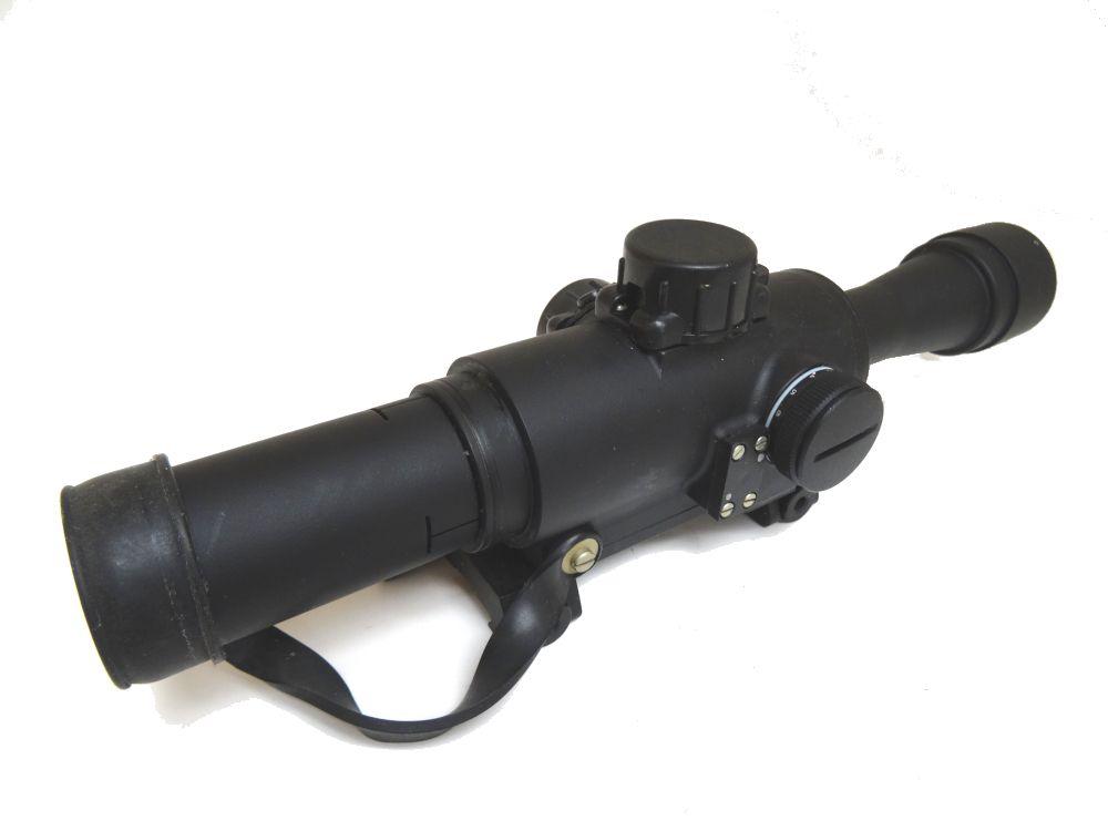 PSO 4x24 Illuminated Rifle Scope, 1000m Rangefinder, Picatinny Quick  Release Mount