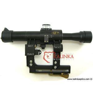 POSP 4x24 Rifle Scope, 1000m Rangefinder, AK